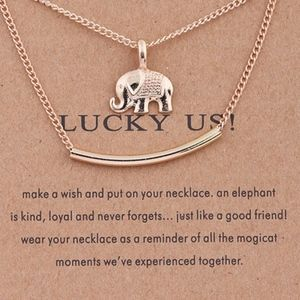 PREVIEW!! Layered Elephant Bar Charm Necklace